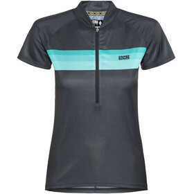 IXS Trail 6.1 Shortsleeve Jersey Women black/petrol